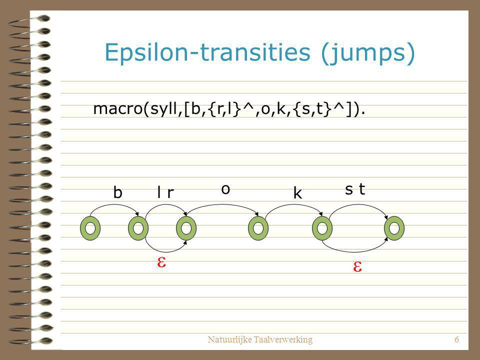 Epsilon-transities (jumps)