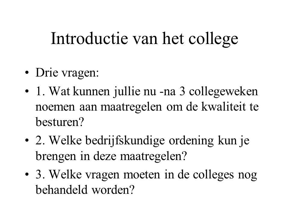 Introductie van het college