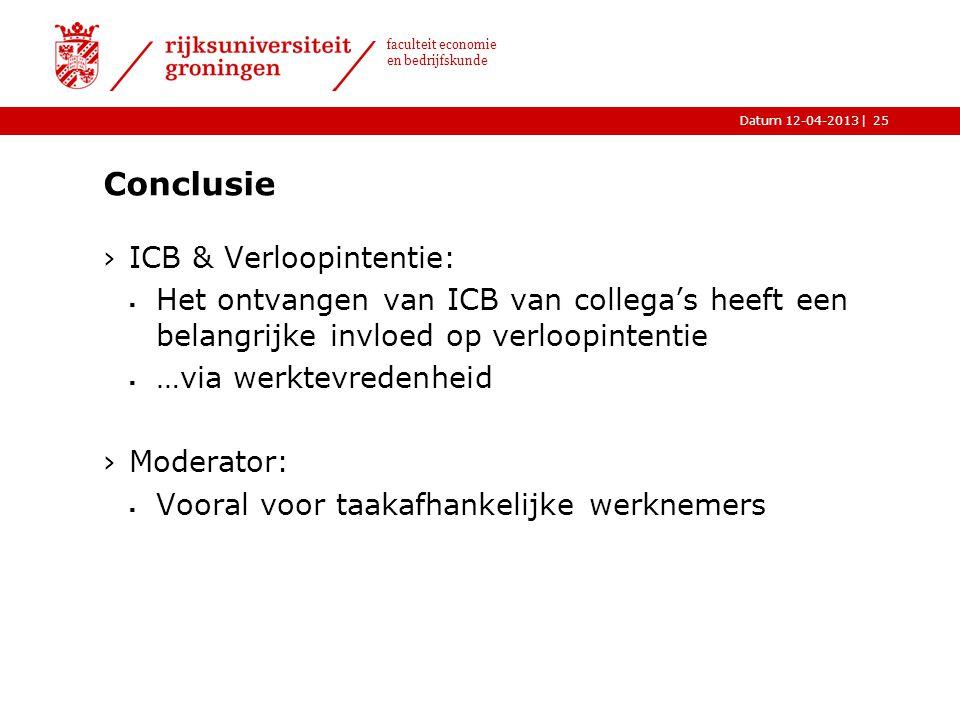 Conclusie ICB & Verloopintentie: