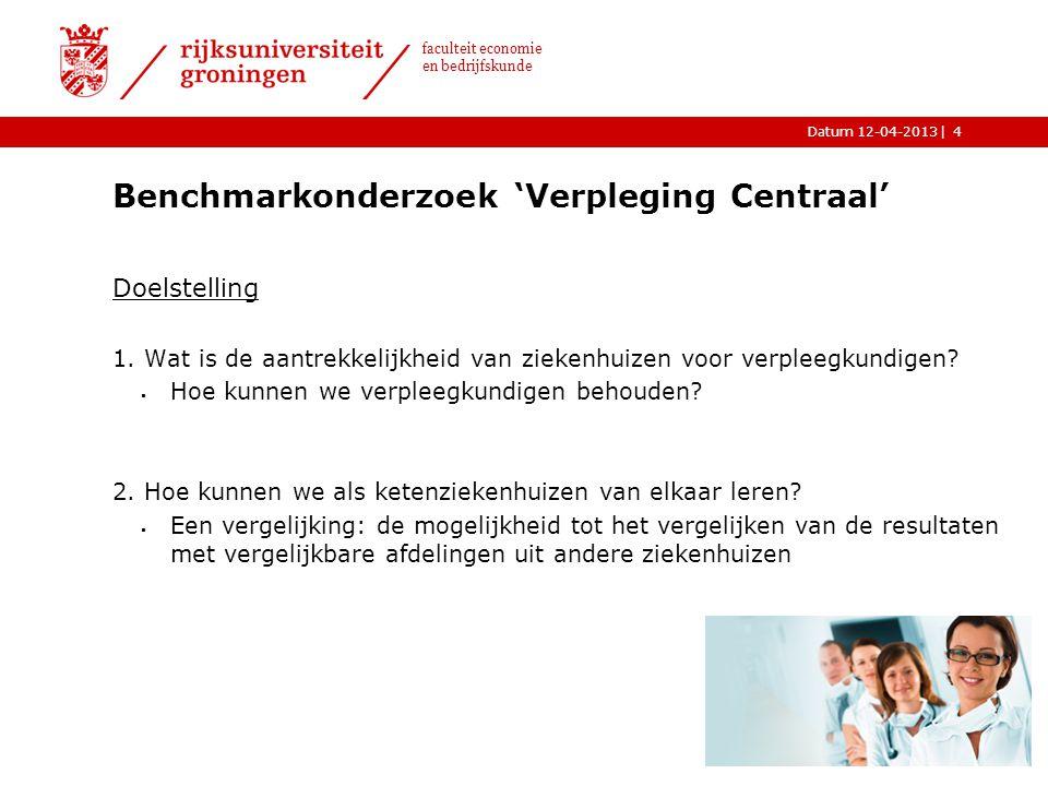 Benchmarkonderzoek 'Verpleging Centraal'