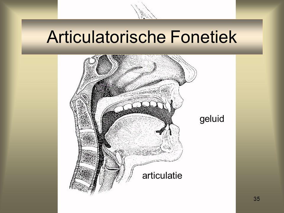 Articulatorische Fonetiek