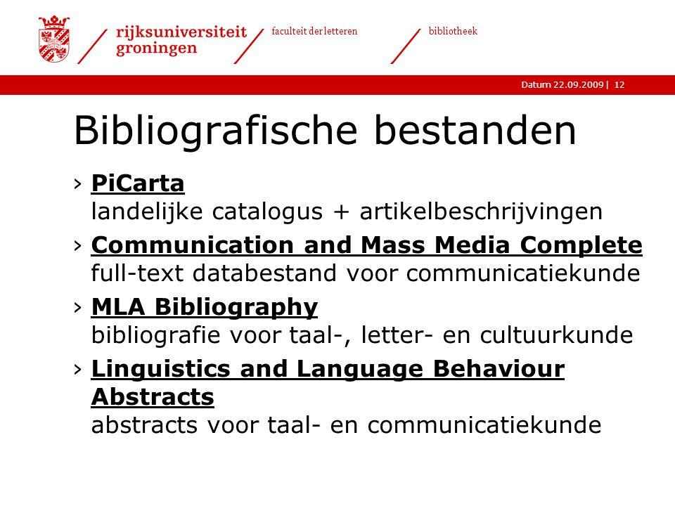 Bibliografische bestanden