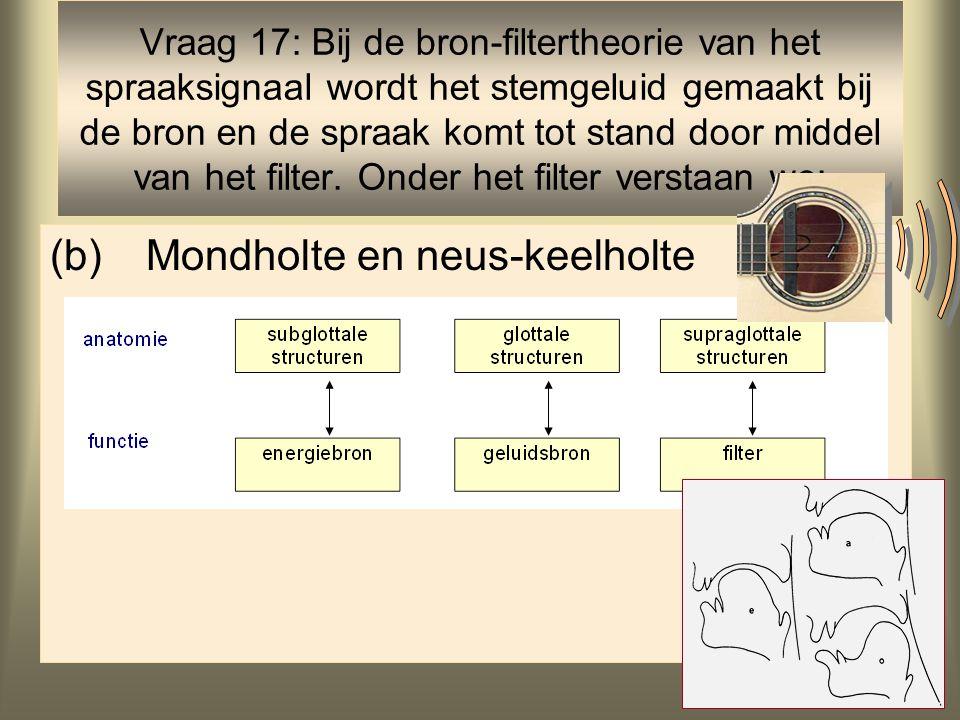 (b) Mondholte en neus-keelholte