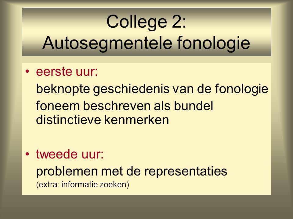 College 2: Autosegmentele fonologie