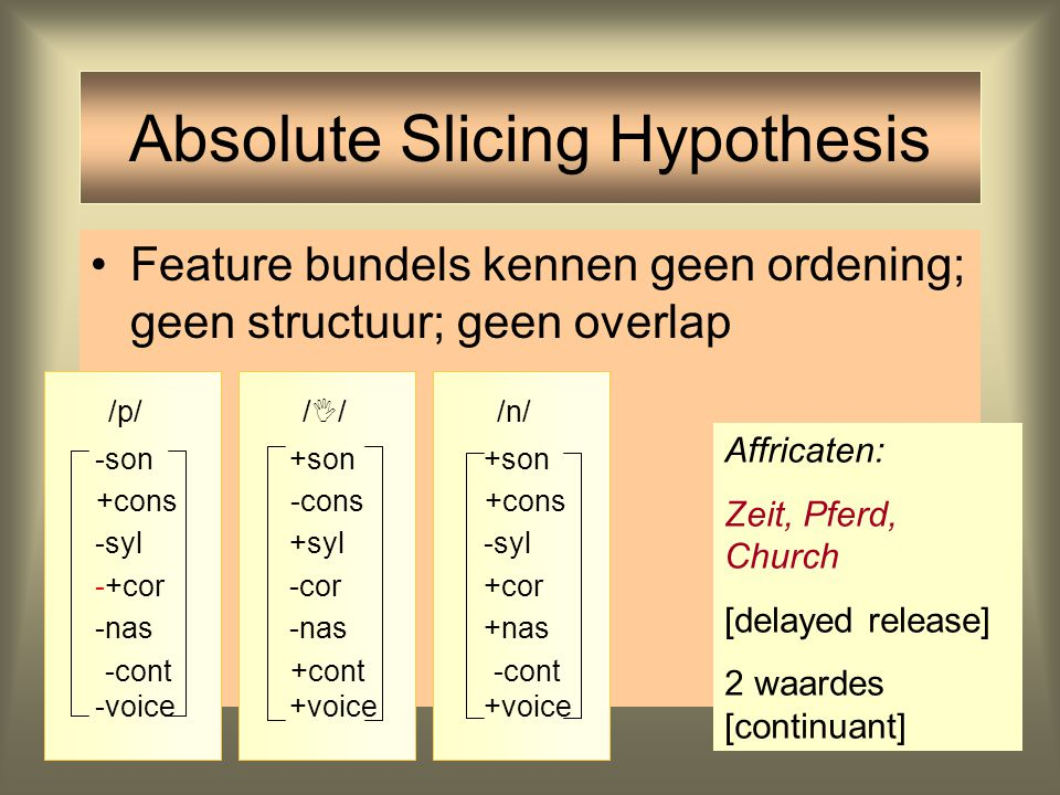 Absolute Slicing Hypothesis