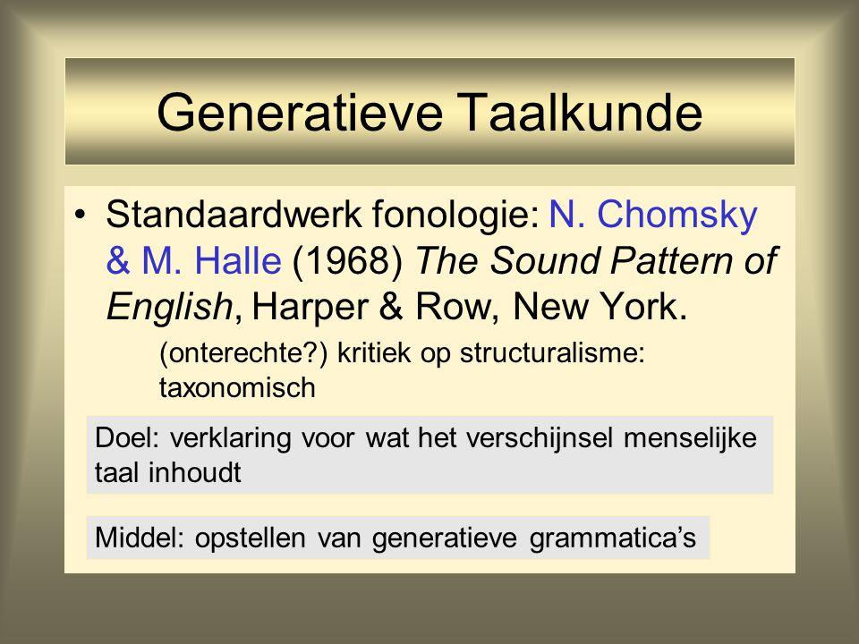 Generatieve Taalkunde