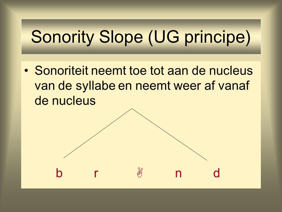 Sonority Slope (UG principe)