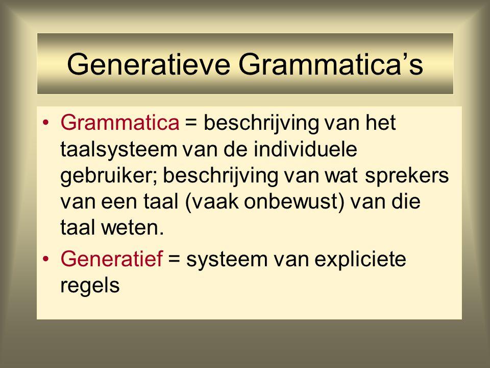 Generatieve Grammatica's