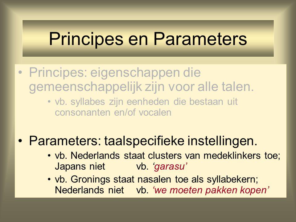Principes en Parameters
