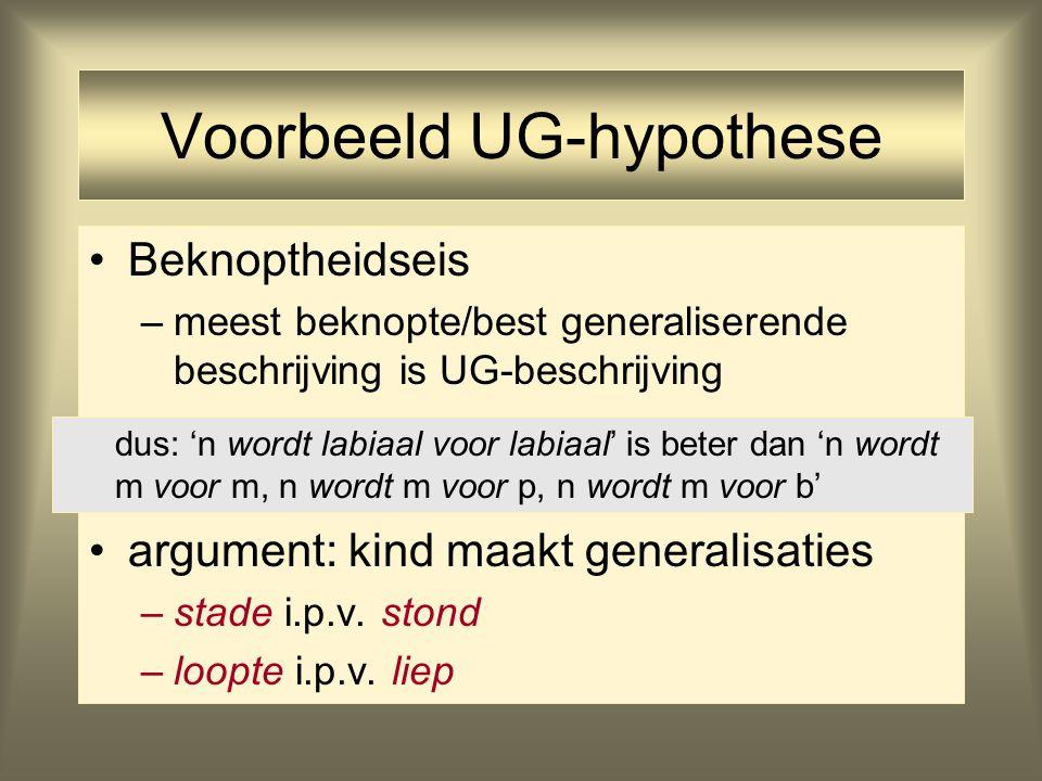 Voorbeeld UG-hypothese