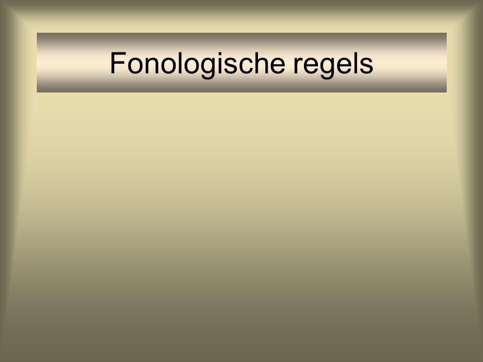 Fonologische regels