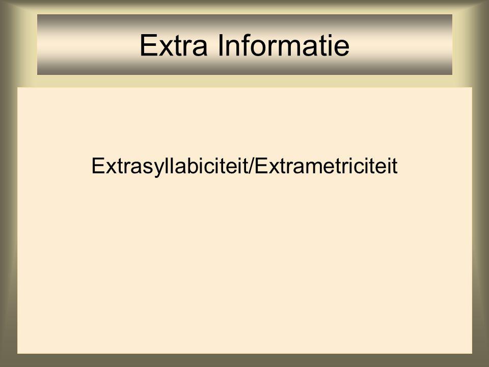 Extrasyllabiciteit/Extrametriciteit