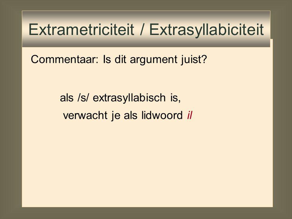 Extrametriciteit / Extrasyllabiciteit