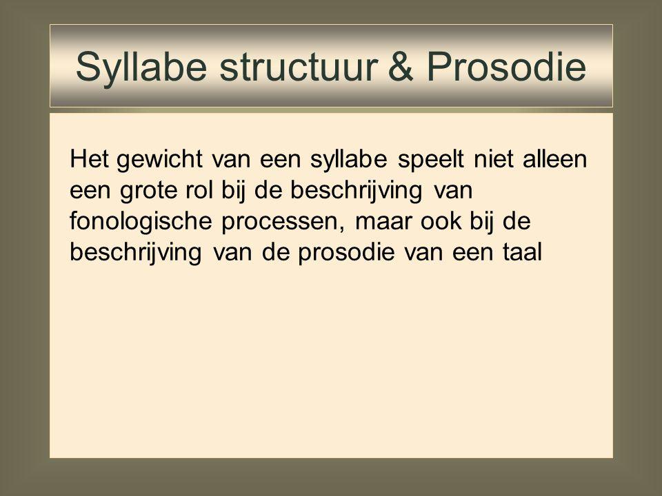 Syllabe structuur & Prosodie