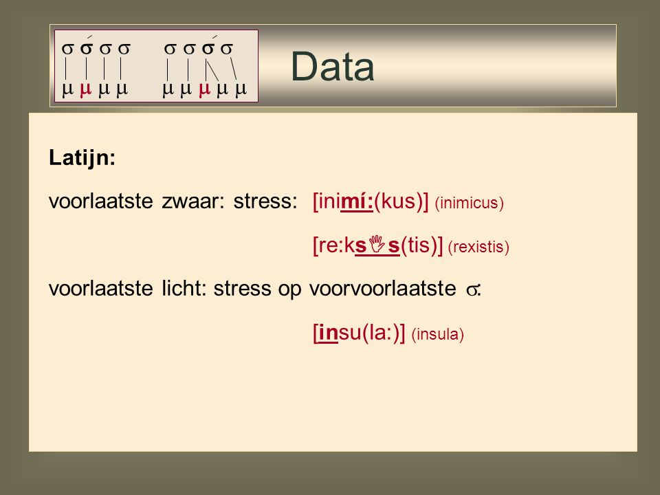 Data                  Latijn: