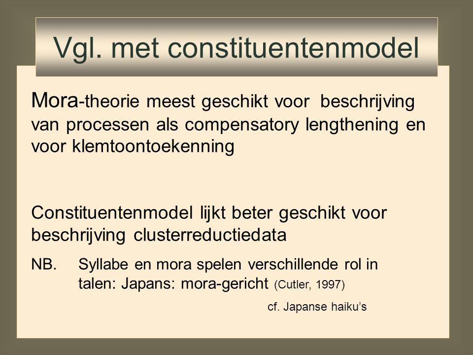 Vgl. met constituentenmodel