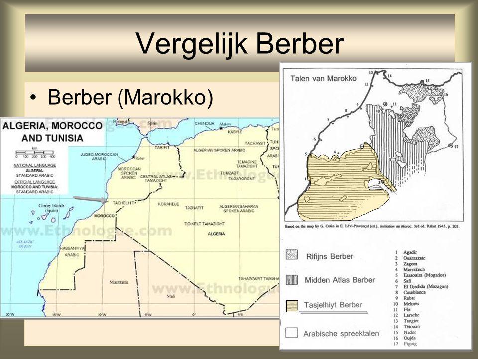 Vergelijk Berber Berber (Marokko)