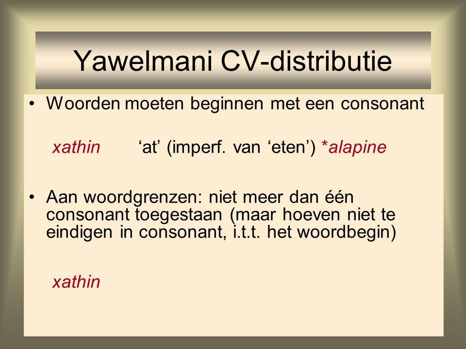 Yawelmani CV-distributie