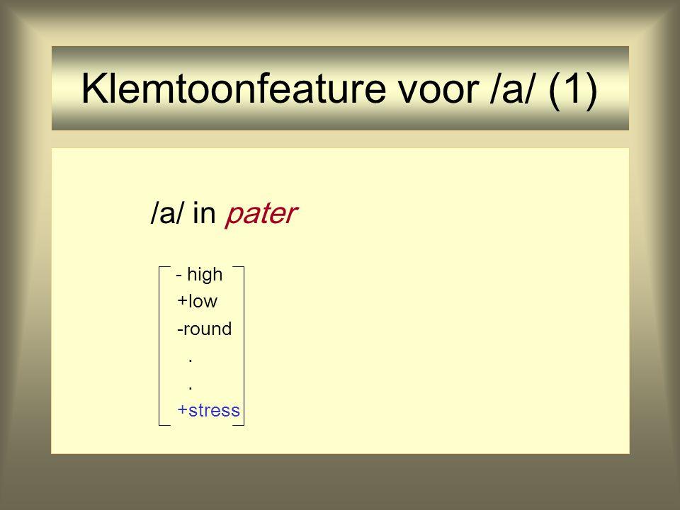 Klemtoonfeature voor /a/ (1)