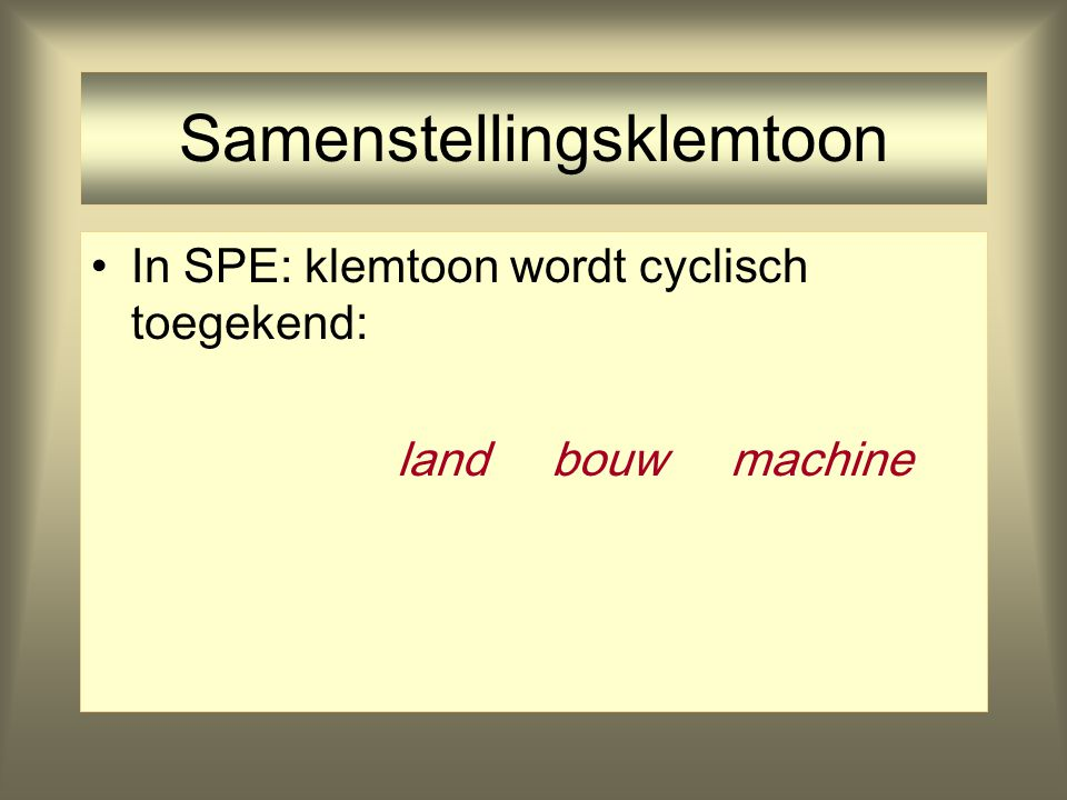 Samenstellingsklemtoon