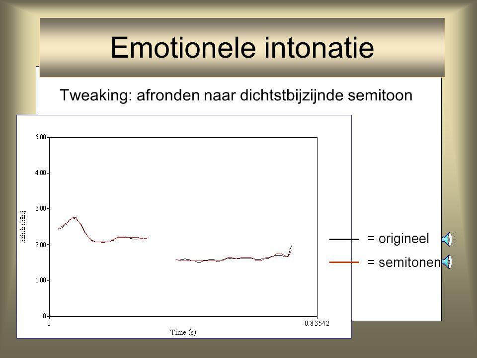 Emotionele intonatie Tweaking: afronden naar dichtstbijzijnde semitoon