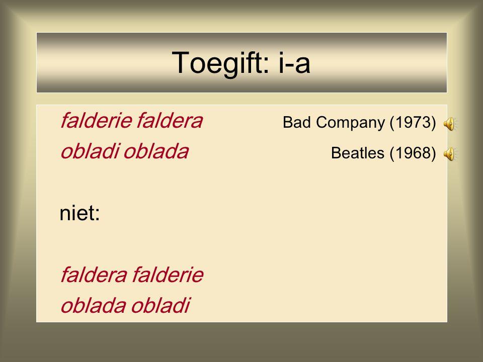 Toegift: i-a falderie faldera Bad Company (1973)