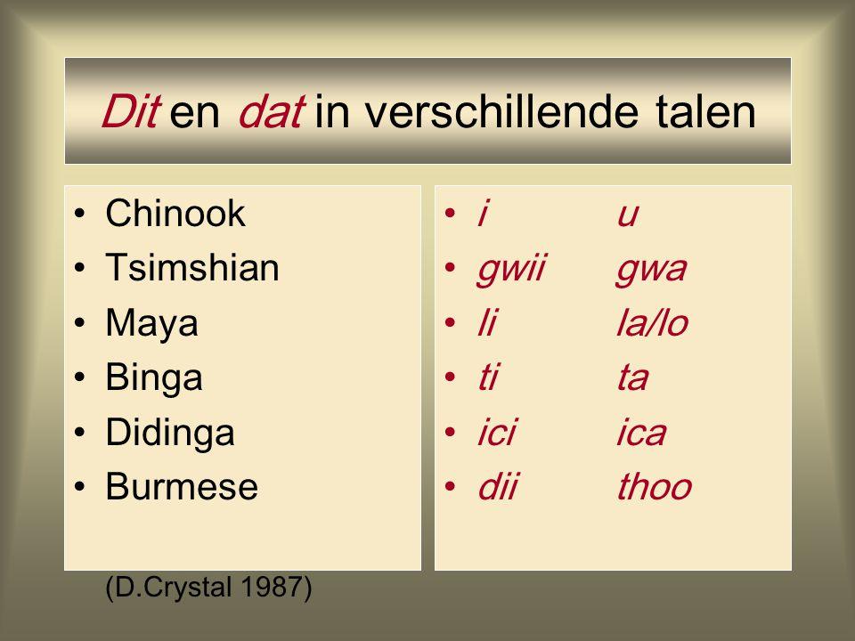 Dit en dat in verschillende talen
