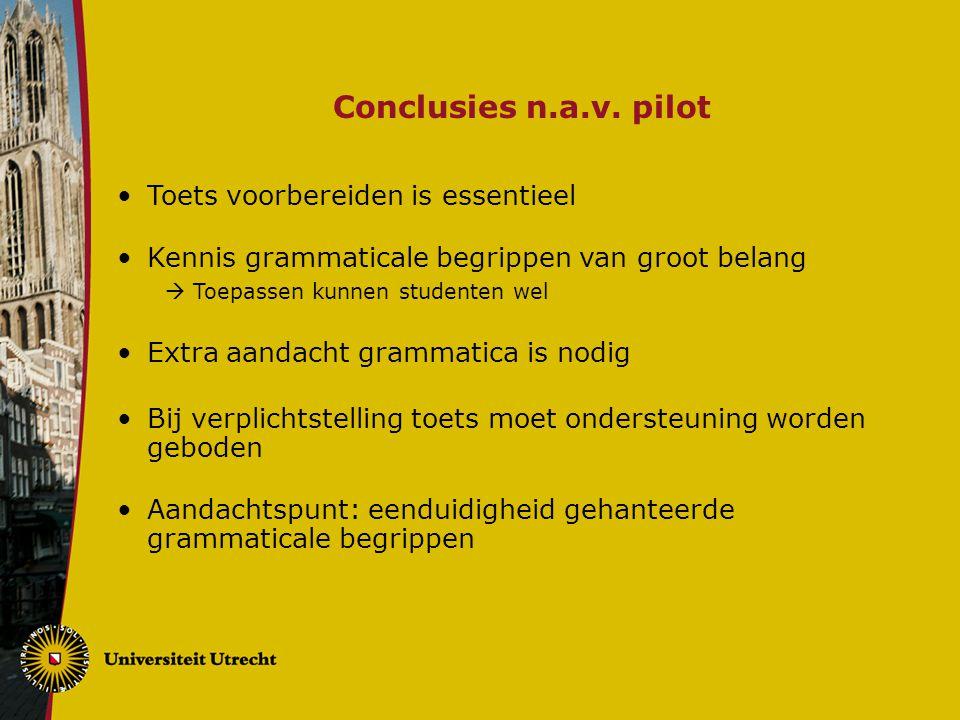 Conclusies n.a.v. pilot Toets voorbereiden is essentieel