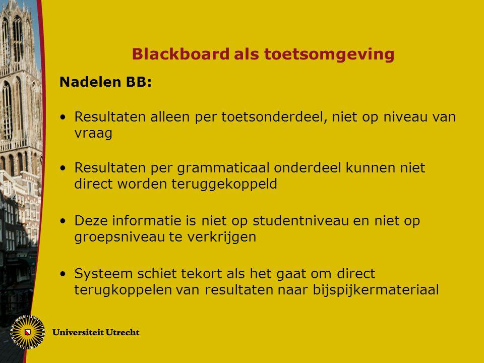 Blackboard als toetsomgeving