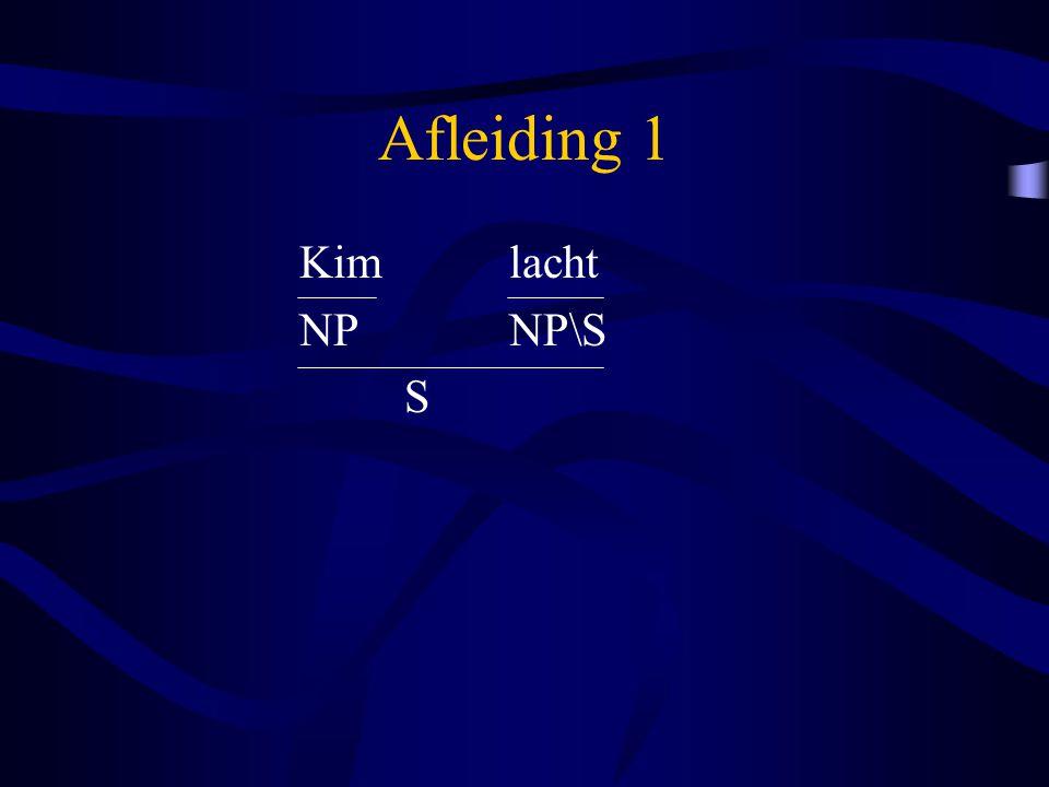 Afleiding 1 Kim lacht NP NP\S S