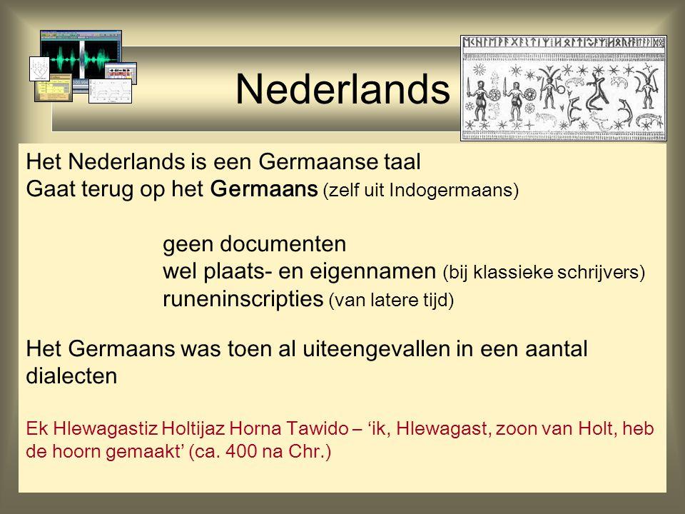 Nederlands Het Nederlands is een Germaanse taal