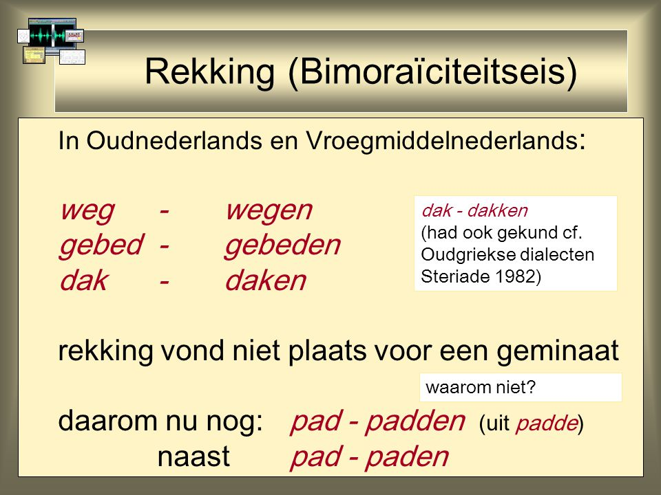 Rekking (Bimoraïciteitseis)