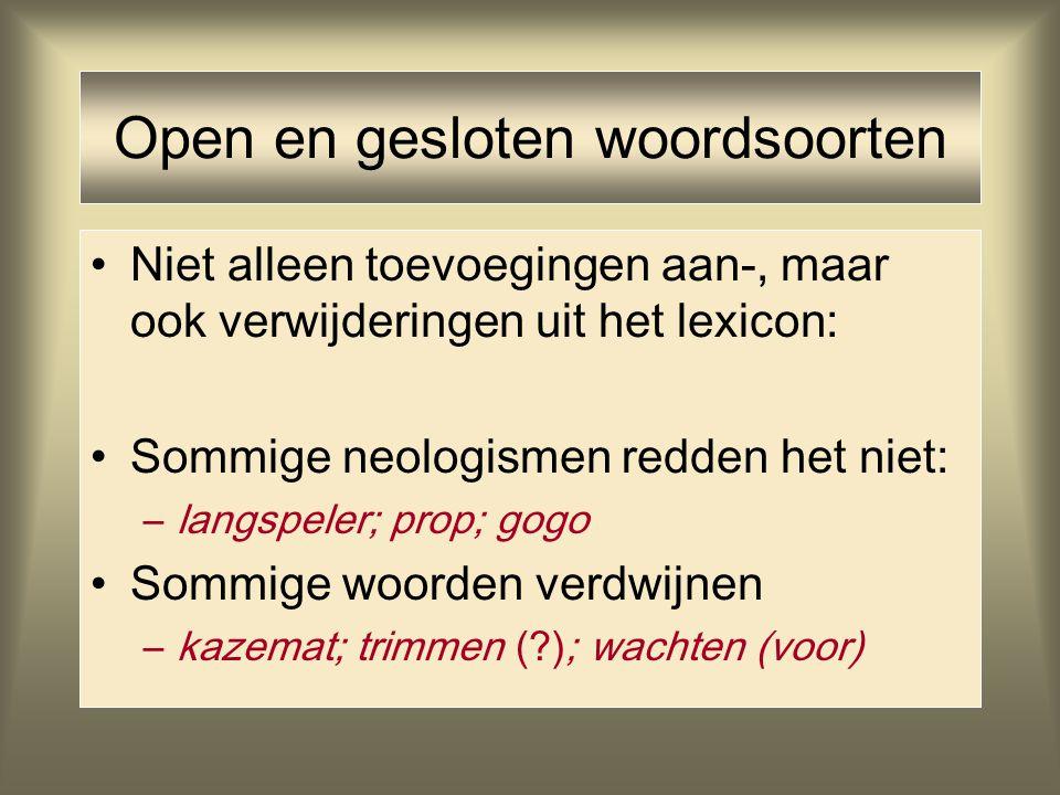 Open en gesloten woordsoorten