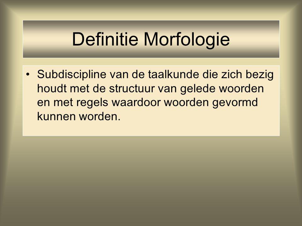 Definitie Morfologie