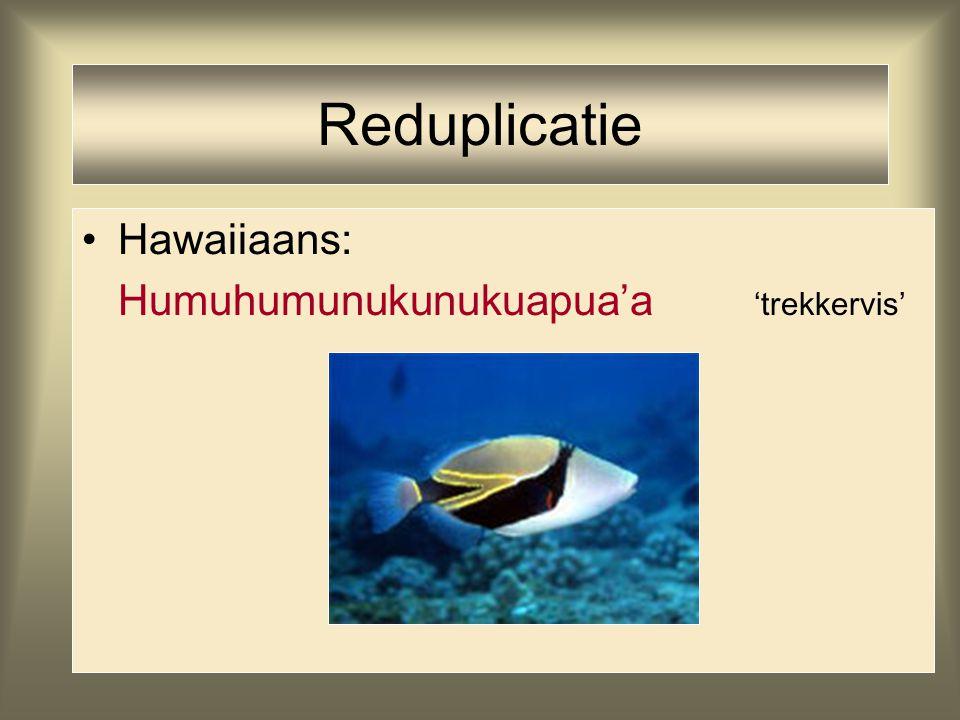 Reduplicatie Hawaiiaans: Humuhumunukunukuapua'a 'trekkervis'