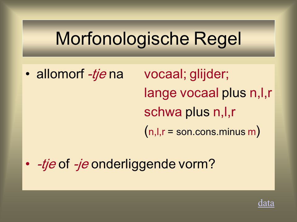 Morfonologische Regel