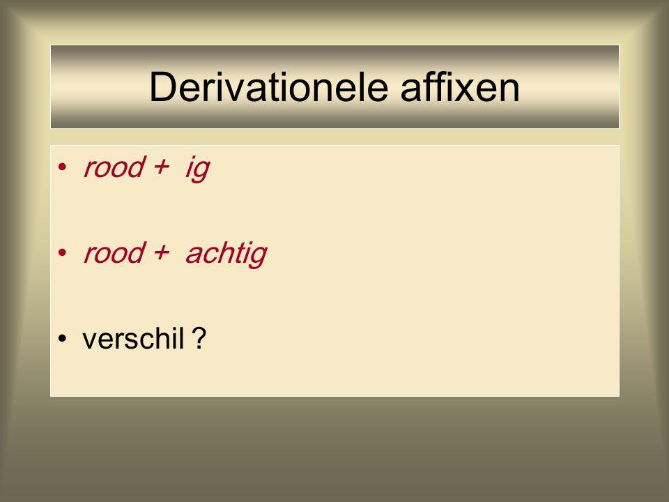 Derivationele affixen