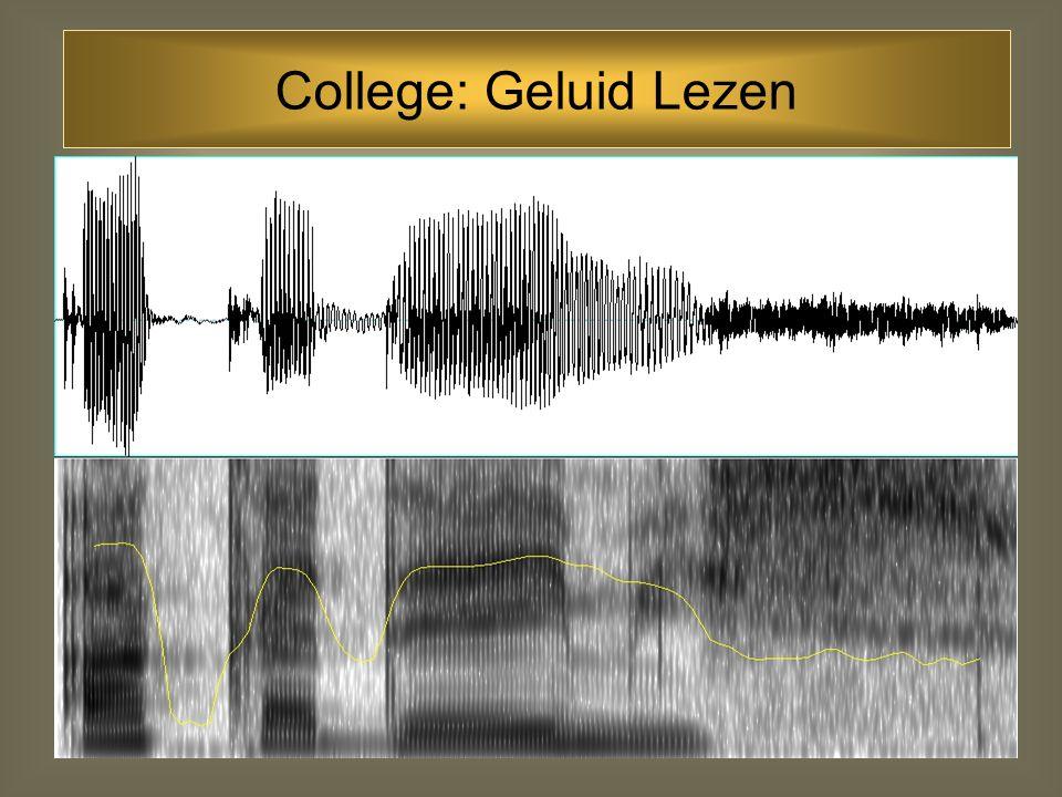 College: Geluid Lezen
