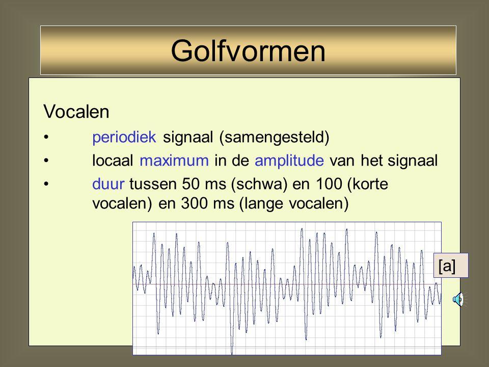 Golfvormen Vocalen periodiek signaal (samengesteld)