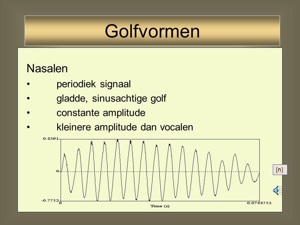 Golfvormen Nasalen periodiek signaal gladde, sinusachtige golf