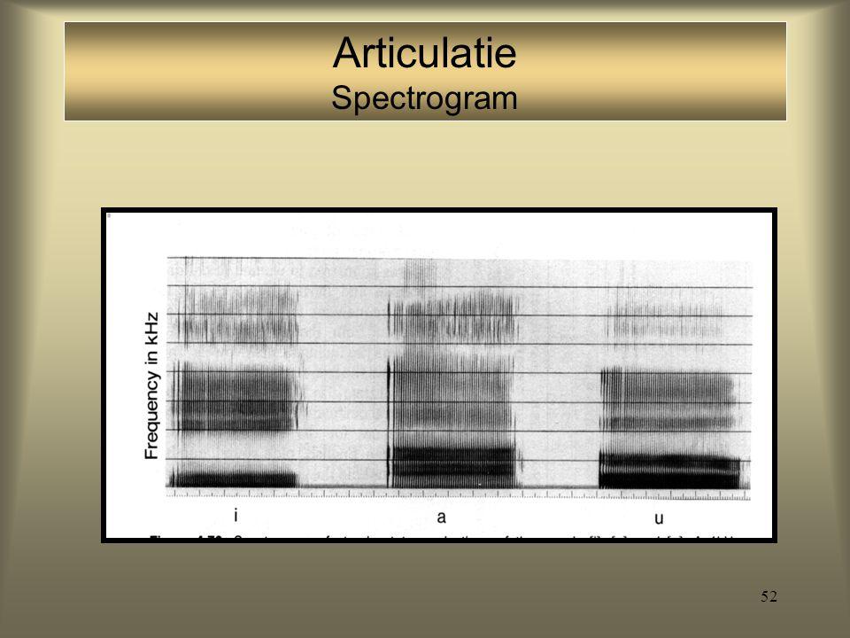 Articulatie Spectrogram