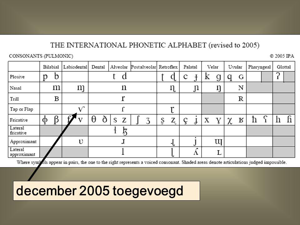 december 2005 toegevoegd