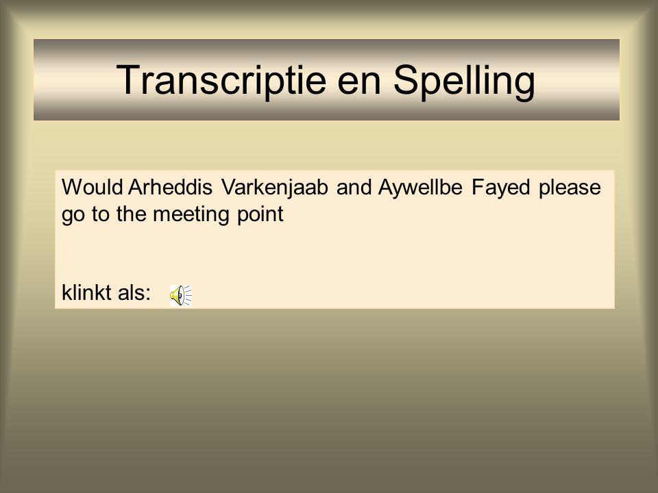 Transcriptie en Spelling