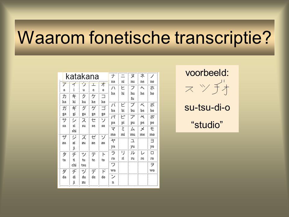 Waarom fonetische transcriptie
