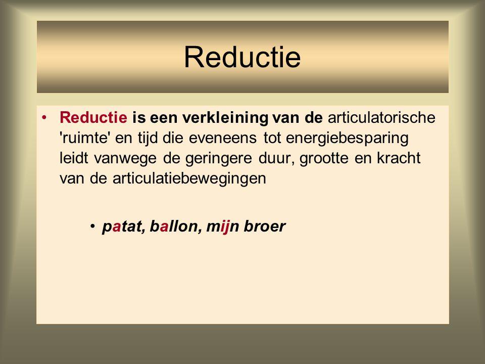 Reductie