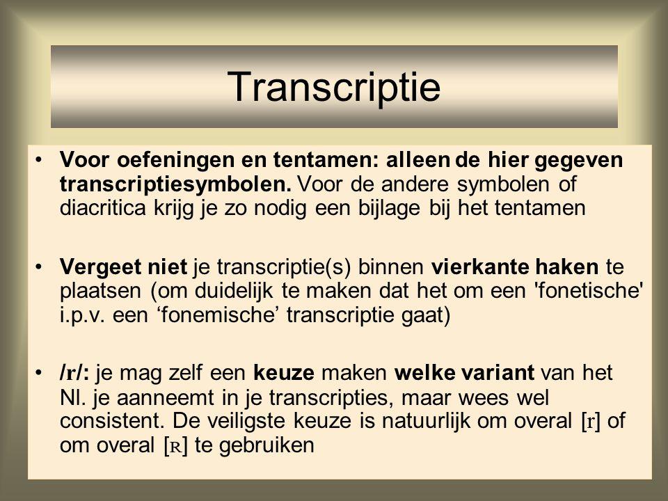 Transcriptie