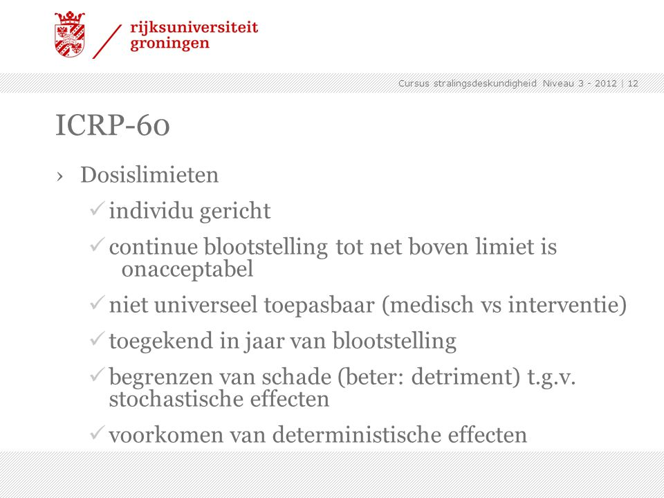 ICRP-60 Dosislimieten individu gericht