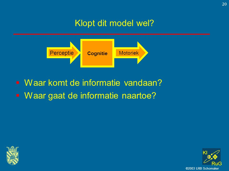 Waar komt de informatie vandaan Waar gaat de informatie naartoe