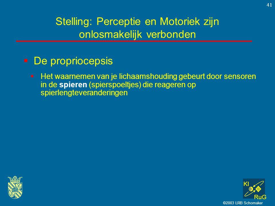 Stelling: Perceptie en Motoriek zijn onlosmakelijk verbonden