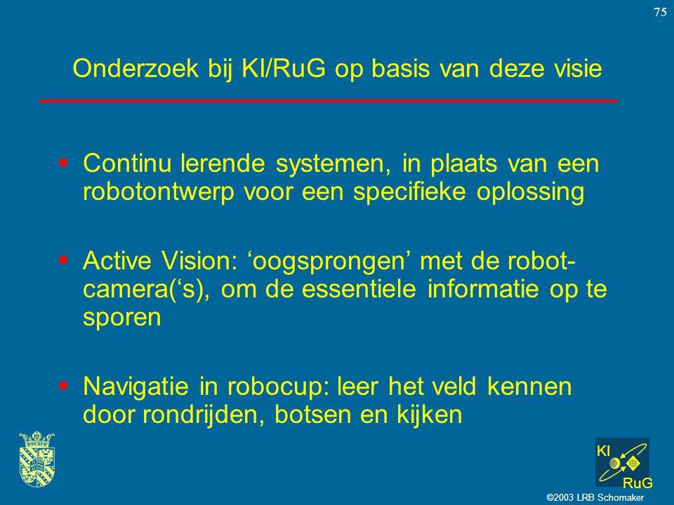 Onderzoek bij KI/RuG op basis van deze visie